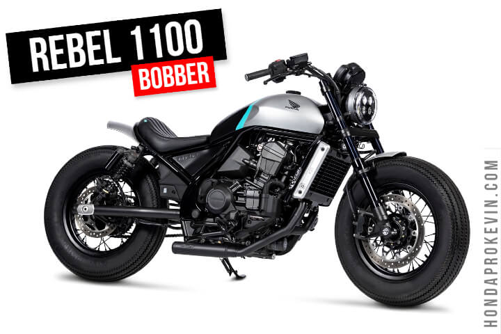 Custom Honda Rebel 1100 Bobber Cruiser | DCT Automatic Motorcycle