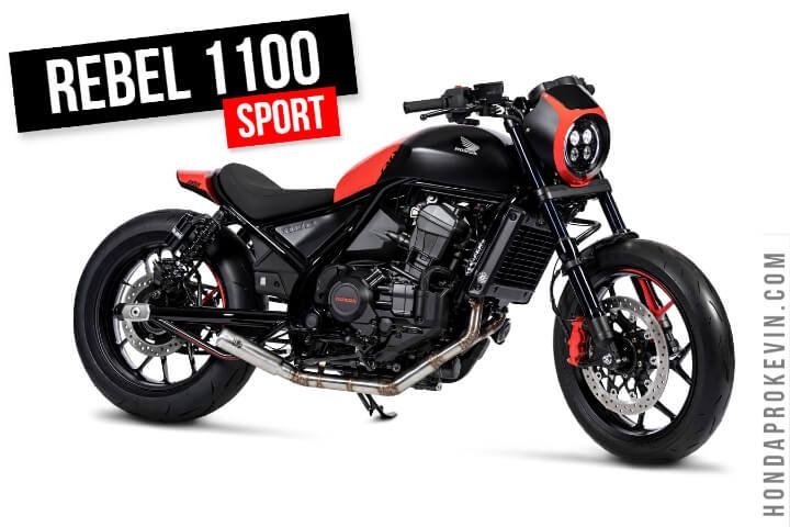 Custom Honda Rebel 1100 Sport Cruiser Motorcycle Build!