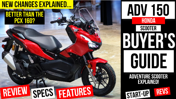 2022 Honda ADV 150 Scooter Review + Comparison VS PCX 160   The best scooter you can buy for 2022!