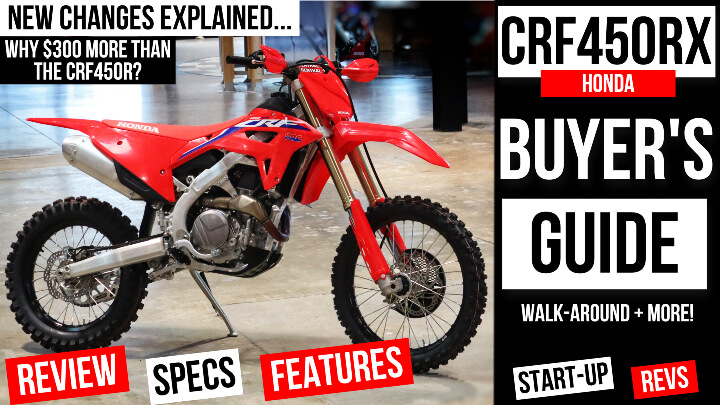 2022 Honda CRF450RX VS CRF450R Differences Explained | CRF 450 Dirt Bike Lineup Buyer's Guide