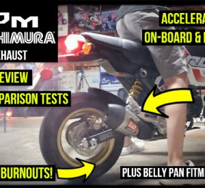 2022 Honda Grom 125 Yoshimura Exhaust Install / Review | Performance Mods to Increase Top Speed