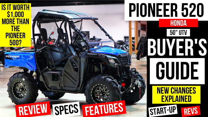 """New Honda Pioneer 520 VS Pioneer 500 Comparison Review / Differences Explained 