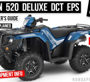 2022 Honda Rubicon 520 Deluxe DCT EPS ATV Review: Specs, Changes, Price, Colors | TRX520FA7 FourTrax 4x4 Buyer's Guide