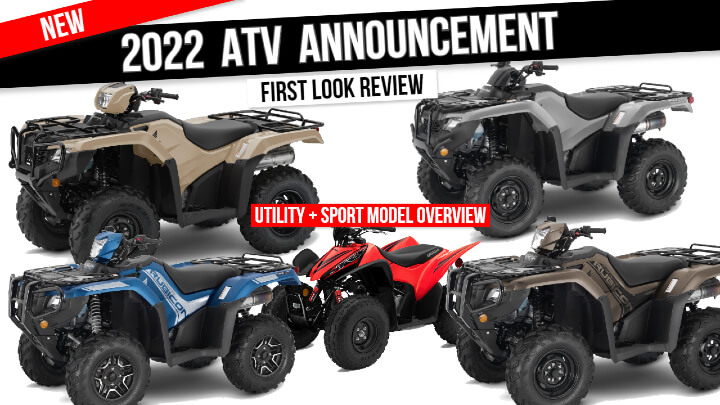 New 2022 Honda ATV Model Lineup Announcement Review / First Look