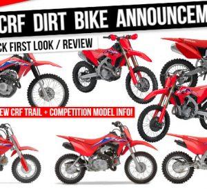 New 2022 Honda CRF Dirt Bikes & Trail Bike Motorcycles Released | Model Lineup Review