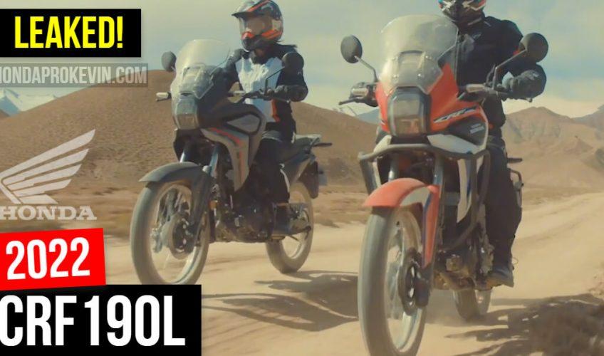 New 2022 Honda CRF190L Adventure Motorcycle Released!   Smaller Africa Twin Dual Sport Bike