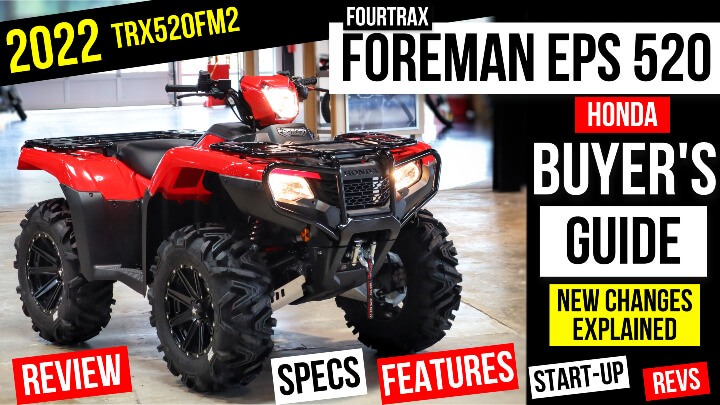 """2022 Honda Foreman 520 EPS ATV Review / Specs / Features + New Changes Explained   Foreman 520 27"""" Tires & 14"""" Wheels + More!"""