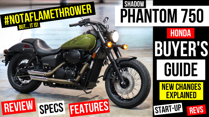 2022 Honda Shadow Phantom 750 Bobber Motorcycle Review: Specs, Changes Explained + Vance & Hines Exhaust Sound | VT750 Cruiser Bike Buyer's Guide