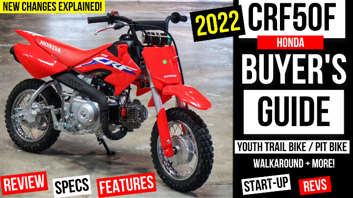 2022 Honda CRF50 Review + New Changes Explained | Kids / Youth Dirt Bike Buyer's Guide