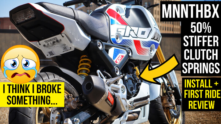 2022 Honda Grom 125 Stiffer Clutch Springs Install / Review - MNNTHBX   Aftermarket Grom Performance Parts / Mods