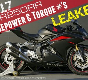 2017 Honda CBR250RR HP & TQ Performance Specs Leaked - CBR 250 RR Sport Bike / Motorcycle Review
