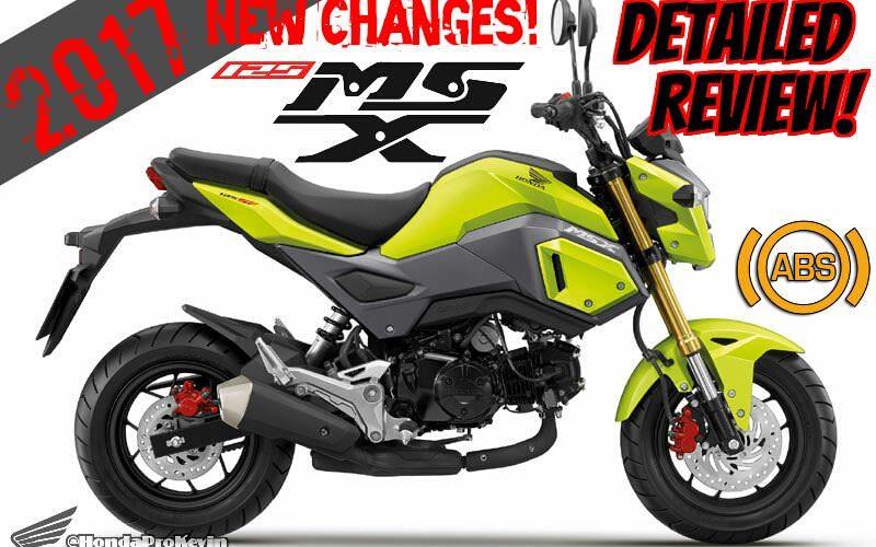 2017 Honda Msx125 Abs Review Of Specs New Changes Msx125sf Mini Sport
