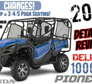 2017 Honda Pioneer 1000-5 Deluxe Review / Specs + NEW Changes | 1000cc Side by Side ATV / UTV / Utility Vehicle SxS 4x4