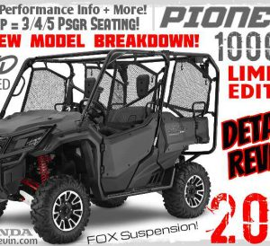 2017 Honda Pioneer-5 1000 LE Review of Specs / Changes - Limited Edition Side by Side / UTV / SxS Price, HP & TQ Performance Info, Accessories