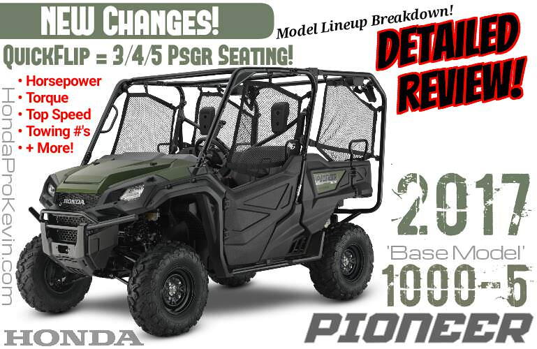 2017 Honda Pioneer 1000-5 Review / Specs + NEW Changes! | 5-Seater Side by Side ATV / UTV / SxS Utility Vehicle 4x4 - SXS10M5P / SXS10M5PH