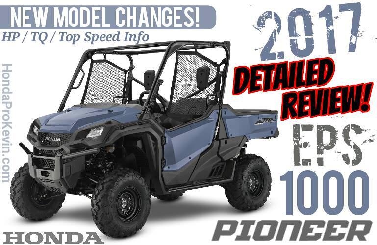 2017 Honda Pioneer 1000 EPS Review of Specs + NEW Changes! UTV / Side by Side ATV / Utility Vehicle SxS 1000cc | SXS10M3P / SXS10M3PH
