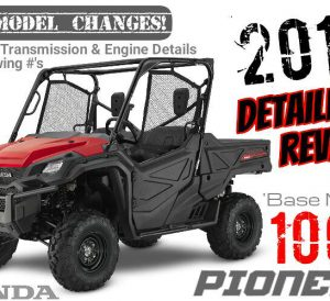 2017 Honda Pioneer 1000 Review of Specs & New Changes - UTV / Side by Side ATV / SxS / Utility Vehicle 3-Seater - SXS10M3 / SXS10M3H