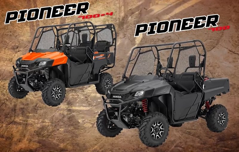 2018 Honda Pioneer 1000 700 500 Side By Side Models