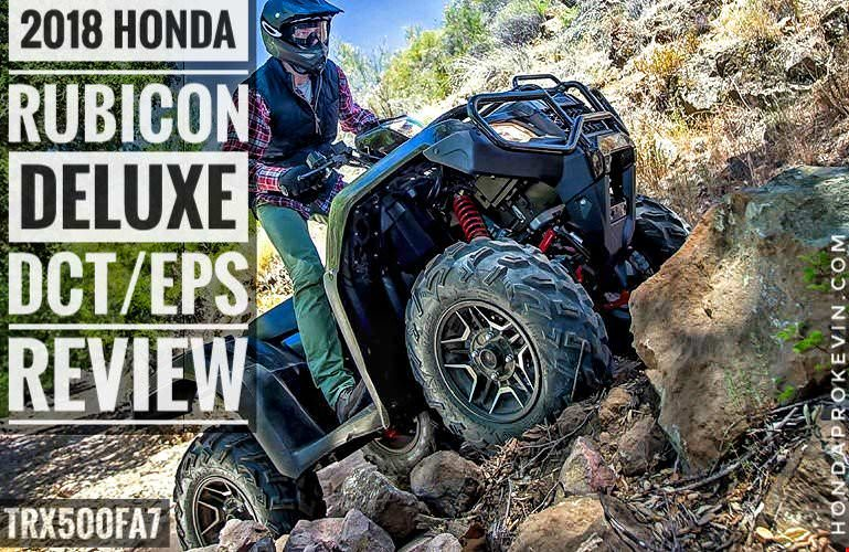 2018 Honda Foreman Rubicon DELUXE DCT / EPS ATV Review & Specs (TRX500FA7) Price, Horsepower & Torque Performance Info, Towing, Wheels & Tires, Auto Transmission - 4x4 Four Wheeler