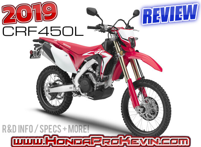 2019 Honda CRF450L Review / Specs | Buyer's Guide: Price, Release Date, Horsepower & Torque Performance Info + More | Dual-Sport Motorcycle / SuperMoto Motard