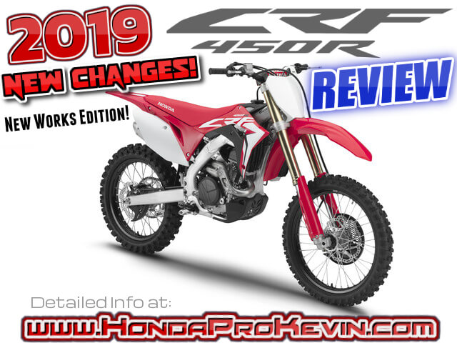 2019 Honda CRF450R & WORKS Edition Review of Specs + NEW Changes! | Motorcycle / Dirt Bike Buyer's Guide: Price, HP & TQ Performance Info + More! | CRF 450 R / CRF450RWE / CRF450 / 450R