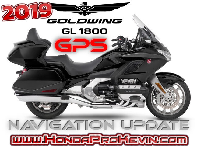 2019 - 2018 Honda Gold Wing Navigation / GPS Update Maps & Software | GL1800 Tour Motorcycle