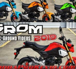 2019 Honda Grom 125 Walk-Around Videos + Review / Specs | 125cc Motorcycle / Mini Bike