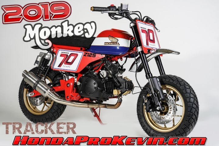 Custom 2020 Honda Monkey 125 Motorcycle / Mini Bike Build | Tracker Flat Track Style Motorcycle | 2019 Honda Monkey 125 Custom Parts & Accessories | Vintage / Retro Honda Mini Trail 50 (Z50)