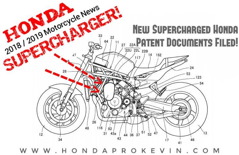 New 2019 Honda Supercharged CBR Motorcycle / Sport Bike Pictures | Patent Documents