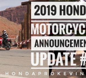 NEW 2019 Honda Motorcycles! Model Lineup Announcement Update #3