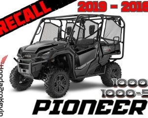 2019 - 2016 Honda Pioneer 1000 Recall / Stop Sale | Throttle Pedal Assembly Stuck Open