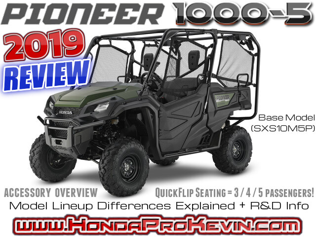 2019 Honda Pioneer 1000-5 Review / Specs: Side by Side / UTV / SxS / ATV Buyer's Guide | 5-seater Utility Vehicle EPS | SXS10M5P