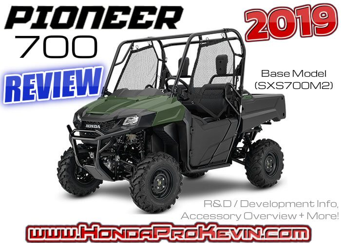 Best 2019 Side By Side 2019 Honda Pioneer 700 Review | Specs & Accessories | 'Base Model'