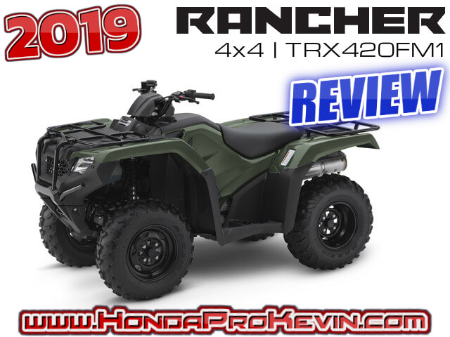 2019 Honda Rancher 420 4x4 ATV Review / Specs: Price, HP & TQ Performance Info, Ground Clearance, Suspension Travel + More!