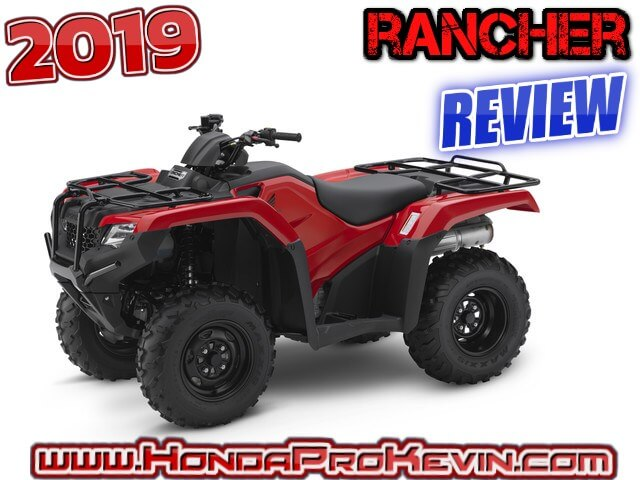 2019 Honda Rancher 420 ATV Review / Specs | Buyer's Guide: Price, Changes, Colors, Horsepower & Torque Performance Info, Ground Clearance, Suspension Travel, Dimensions + More! | TRX420 FourTrax / TRX420TM / TRX420TM1 / TRX420TM1K