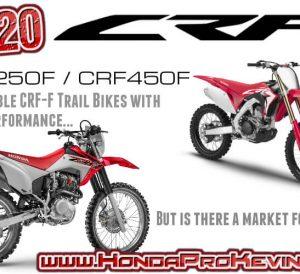 2020 Honda CRF230 / CRF250 / CRF450 Dirt Bikes | Motorcycles / Trail Bikes CRF 250 450