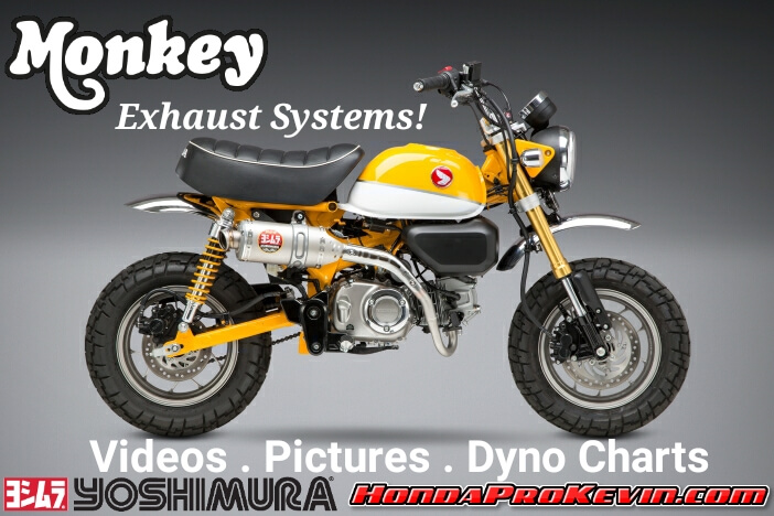 Honda Monkey 125 Exhaust Systems by Yoshimura | Review with HP & TQ Performance Increase + Sound Clip Videos, Pictures and more...
