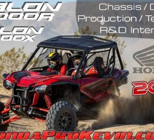 2019 Honda TALON 1000 R / X Chassis + Suspension Testing, R&D, Design, Production Review | Sport SxS / Side by Side ATV / UTV TALON 1000R & 1000X Specs