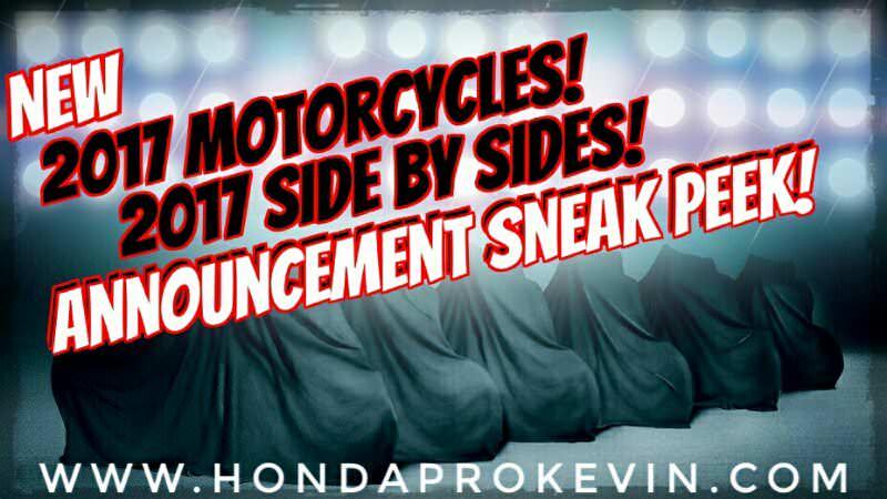 New 2017 Honda UTV & Motorcycle Models Announced / Released   EICMA 2016