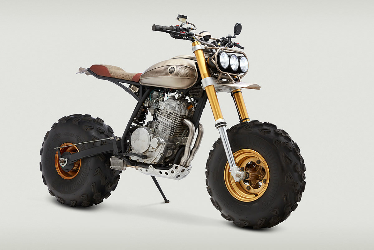 custom honda xr650l  fat cat of the 21st century  crazy