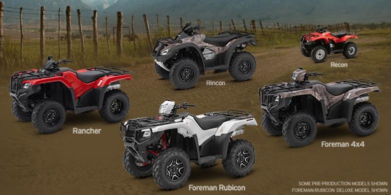 2017 Honda ATV Models - Lineup Review & Specs