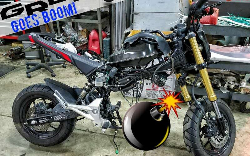 Honda Grom / MAX 125 Engine Damage / Blown Motor with Intake & Exhaust | Tuner / Fuel Programmer & Controller Options