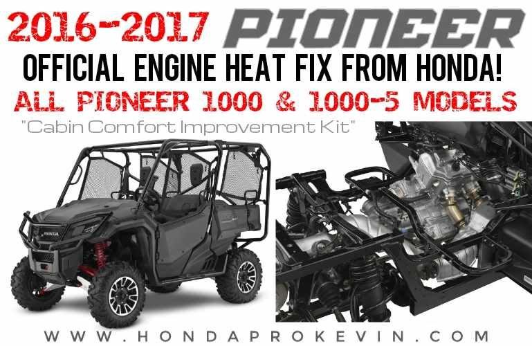 Official Honda Pioneer 1000 Heat Problem Fix - Cabin Comfort Improvement Kit