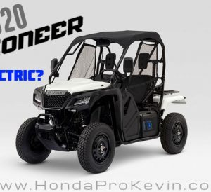 Honda Pioneer Electric Side by Side / UTV / ATV / SxS Utility Vehicle
