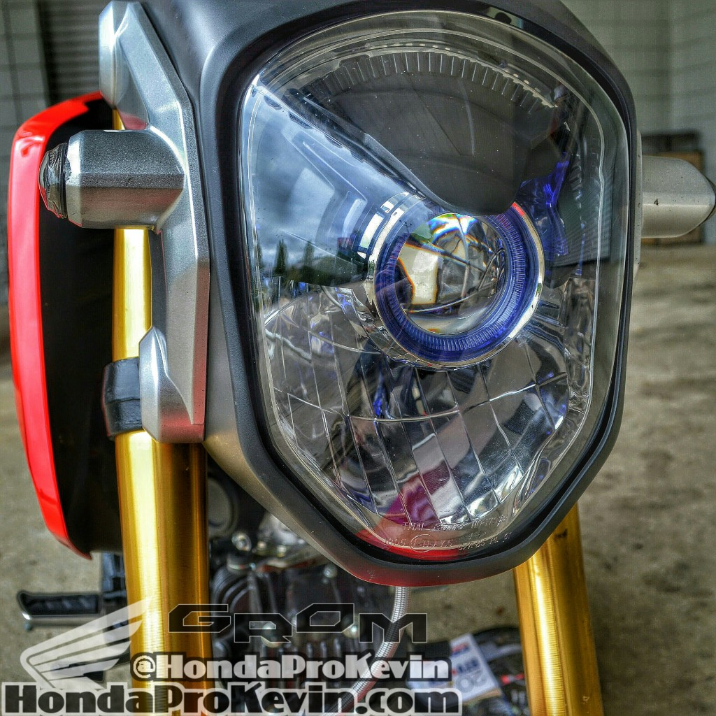 2015 Custom Honda Grom MSX 125 HID Projector LED Headlight Bulb Flushmount Turn Signals Blinkers