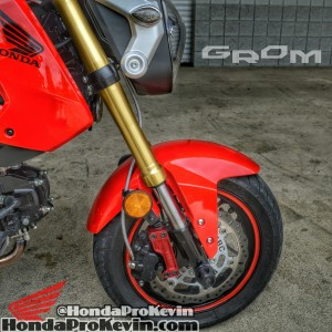 Custom Honda Grom MSX 125 Parts - Brake Rotor - Wheel / Rim Tape - Stainless Steel SS Brake Lines - Flush Mount LED Turn Signals